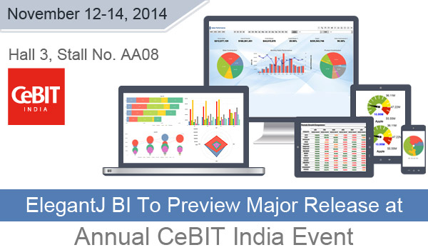 ElegantJ BI To Preview Major Business Intelligence Product Release at Annual CeBIT India Event