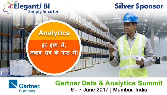 Gartner Data & Analytics Summit, Mumbai India June 6-7: ElegantJ BI is Silver Sponsor