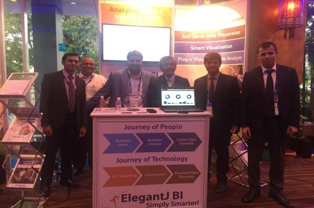 ElegantJ BI booth at Gartner BI & Analytics Summit, Mumbai, 2017